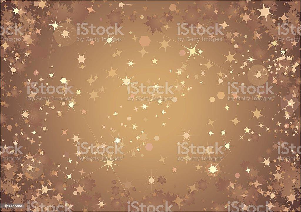 Bronze Sparkle Background vector art illustration