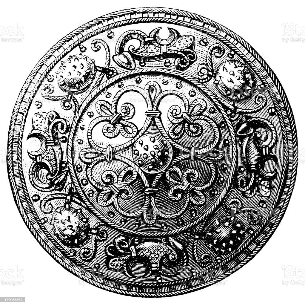 brooch royalty-free stock vector art