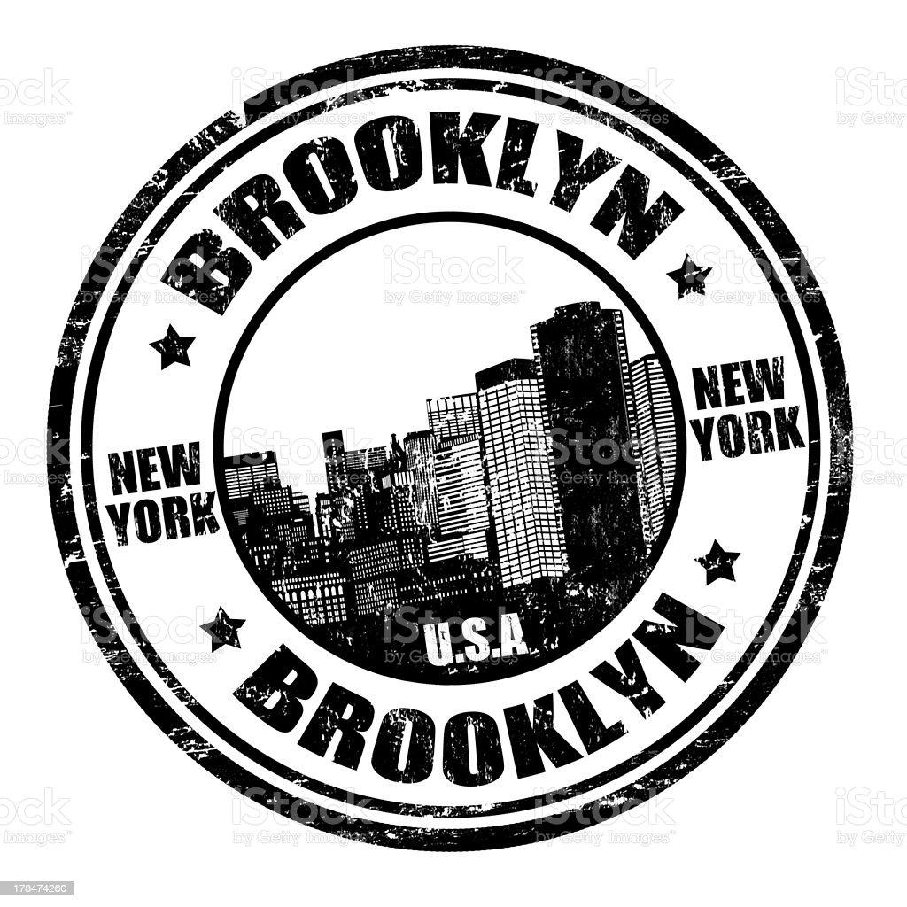 Brooklyn stamp royalty-free stock vector art