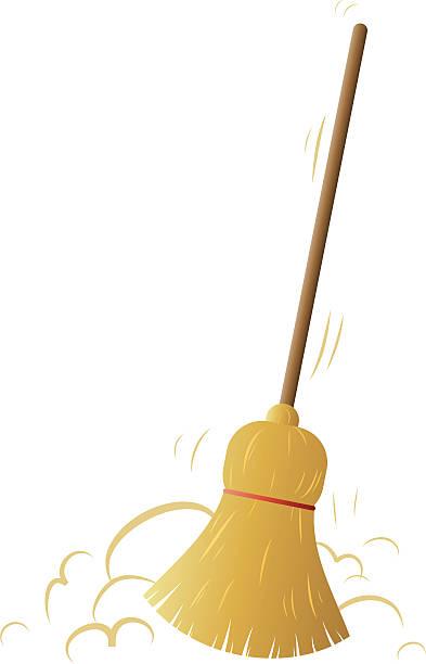 broom vector art illustration