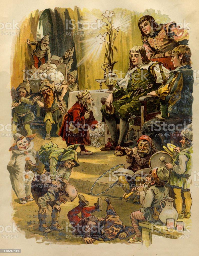 ブラザーズ グリム童話 1863 おとぎ話のベクターアート素材や画像を