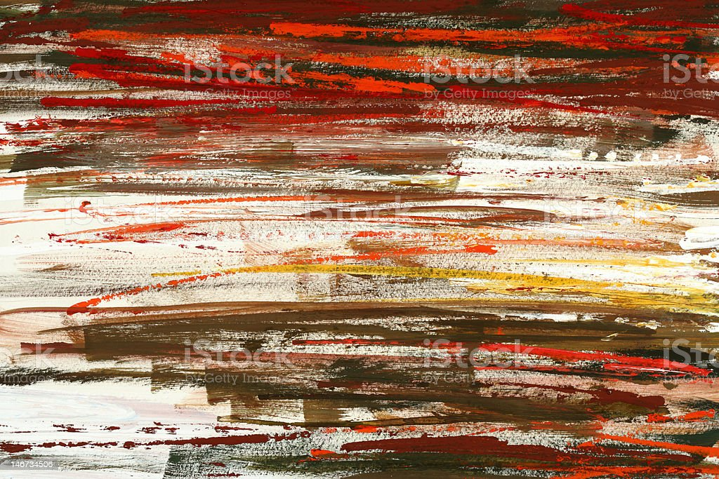 brown and orange brushed painting royalty-free stock vector art