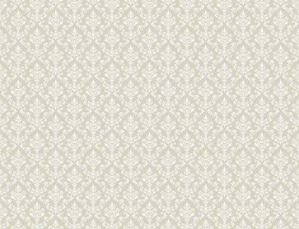 Brown gold wallpaper with white damask pattern Brown gold damask wallpaper with white floral patterns tapestry stock illustrations