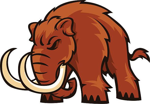 braun-mammut - eiszeit stock-grafiken, -clipart, -cartoons und -symbole