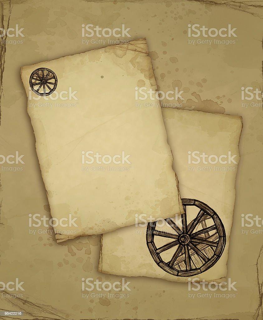 Braun altes Papier mit Skizze Lizenzfreies braun altes papier mit skizze stock vektor art und mehr bilder von alt
