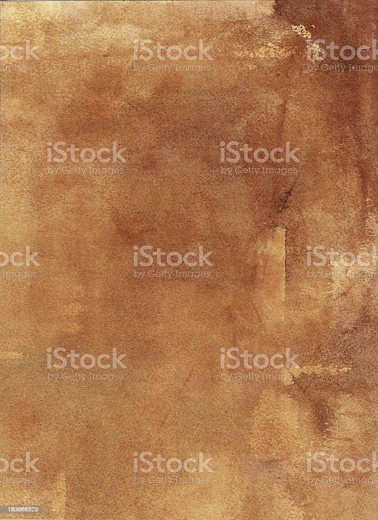 Brown Paper Background Watercolor vector art illustration