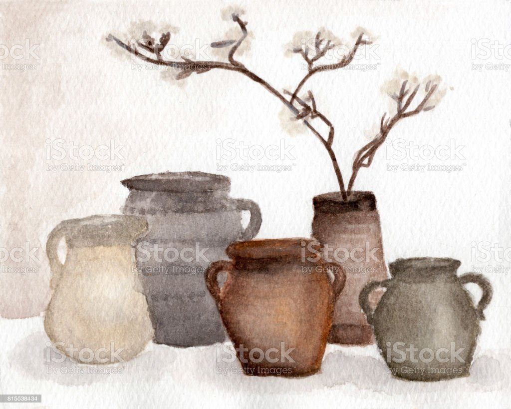 Brown pottery vase and dried flower decorate in vase clay pots old brown pottery vase and dried flower decorate in vase clay pots old ceramic vases reviewsmspy