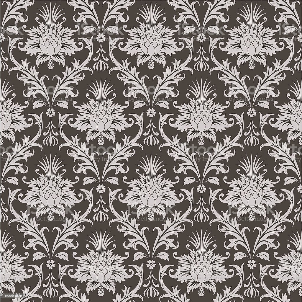 Brown wallpaper pattern royalty-free stock vector art