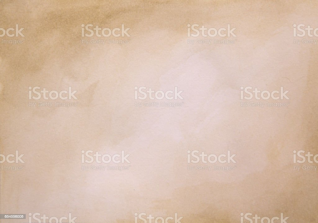 Brown watercolor background - abstract texture vector art illustration