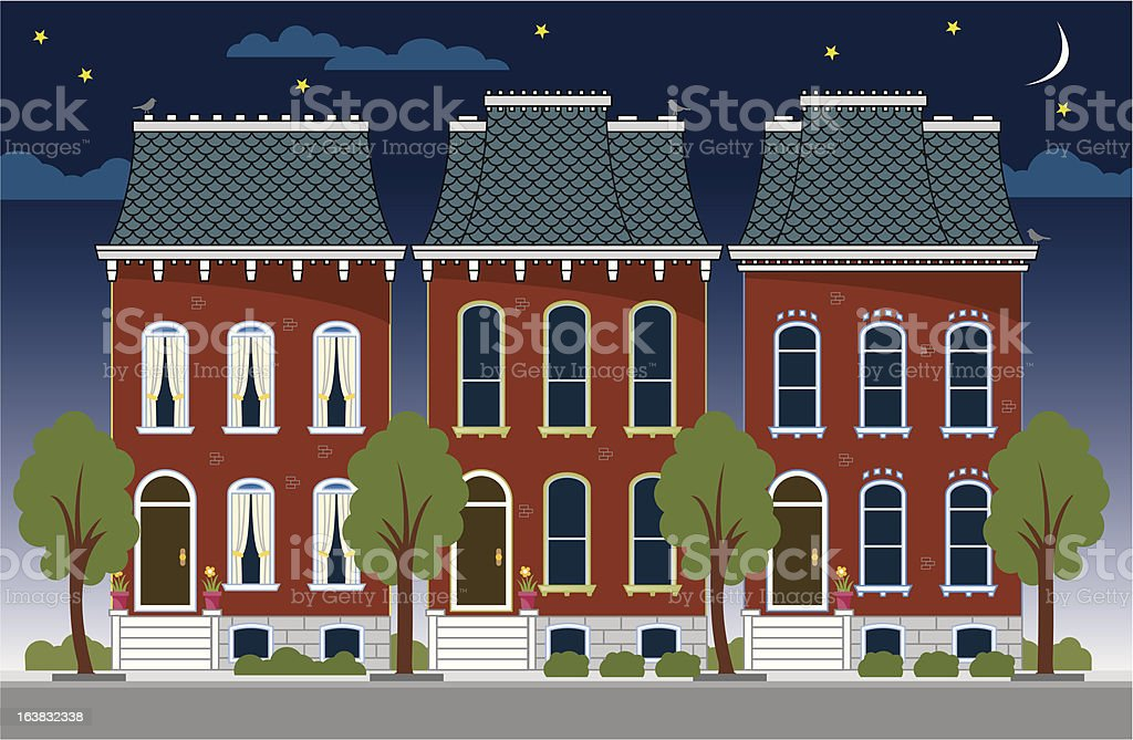Brownstone Row Houses royalty-free brownstone row houses stock vector art & more images of architectural feature