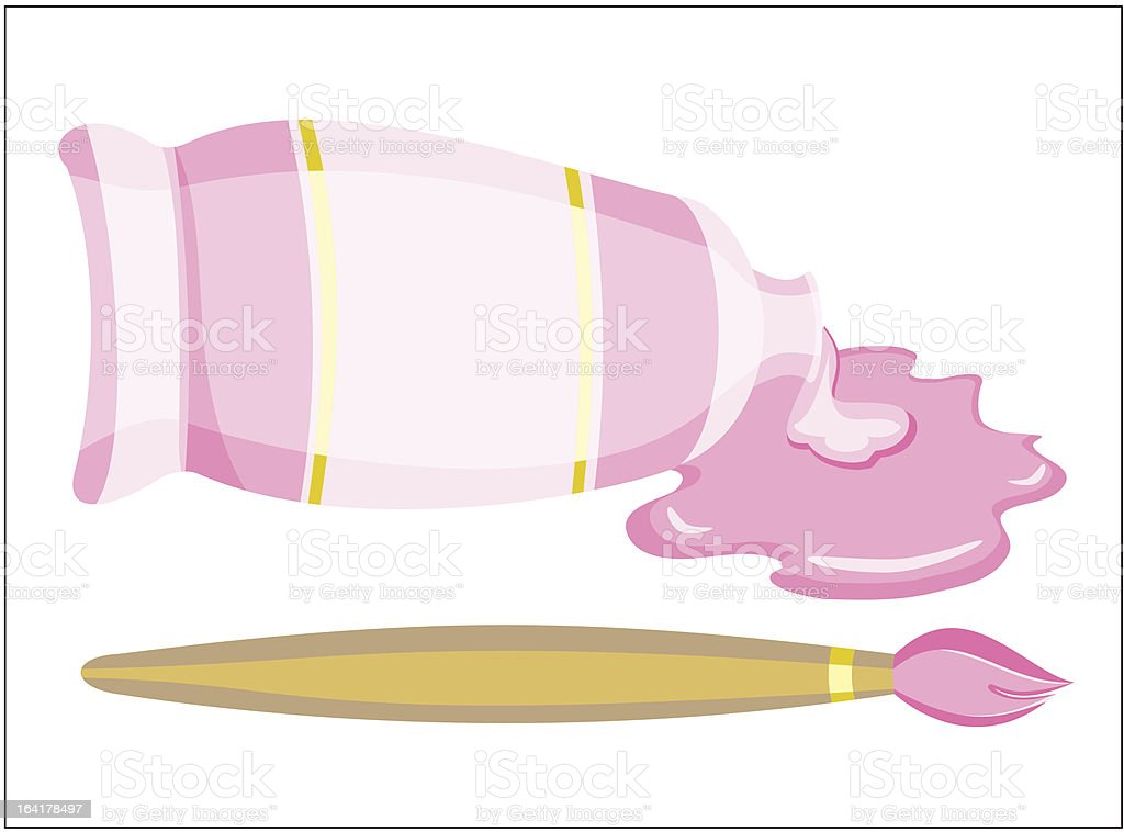 Brush and paint  (vector) royalty-free stock vector art