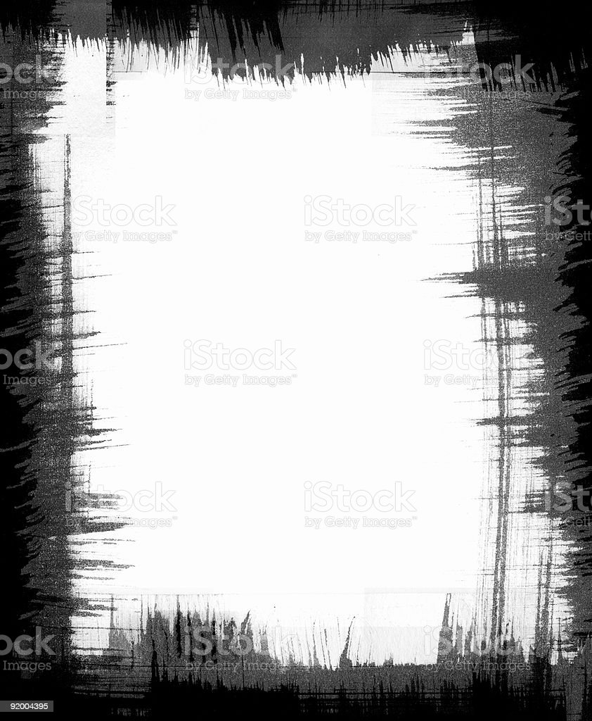 Brush Pattern Frame royalty-free stock vector art