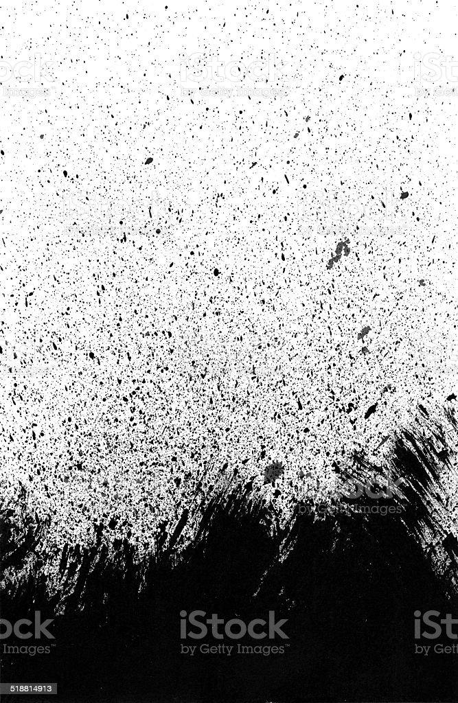 Brush Stroke and Ink Splashes Texture vector art illustration