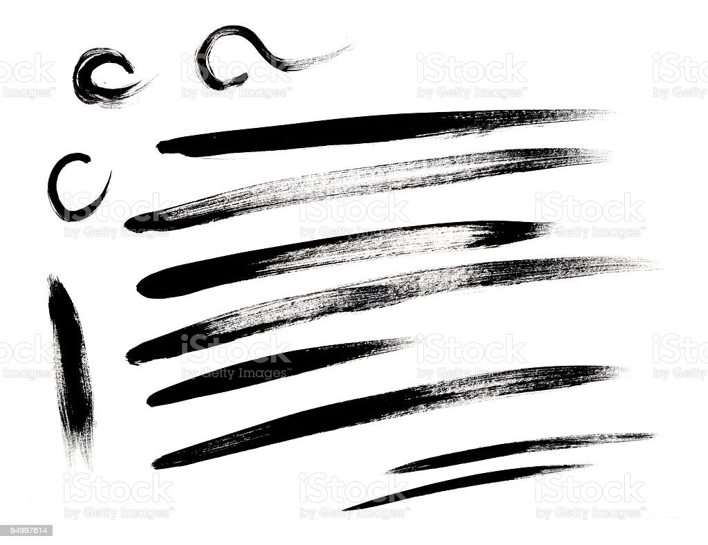 Brush stroke collection vector art illustration