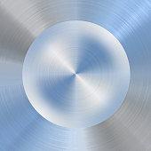 Brushed blue metal background