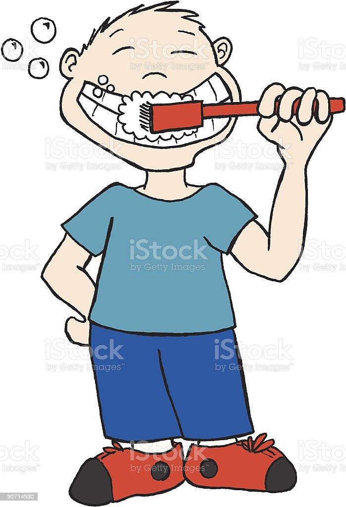 Brushing Teeth royalty-free brushing teeth stock vector art & more images of blue