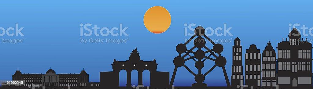 Brussel horizonte - ilustración de arte vectorial