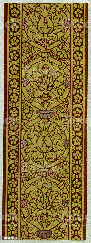 Buckle and Looped Pattern 16th Century vector art illustration