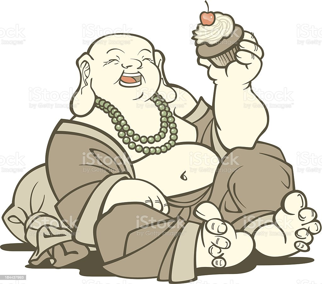 Buddha With Cupcake royalty-free buddha with cupcake stock vector art & more images of adult