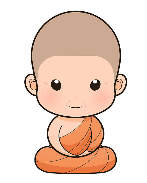 buddhist monk cartoon - old man praying picture pictures stock illustrations, clip art, cartoons, & icons