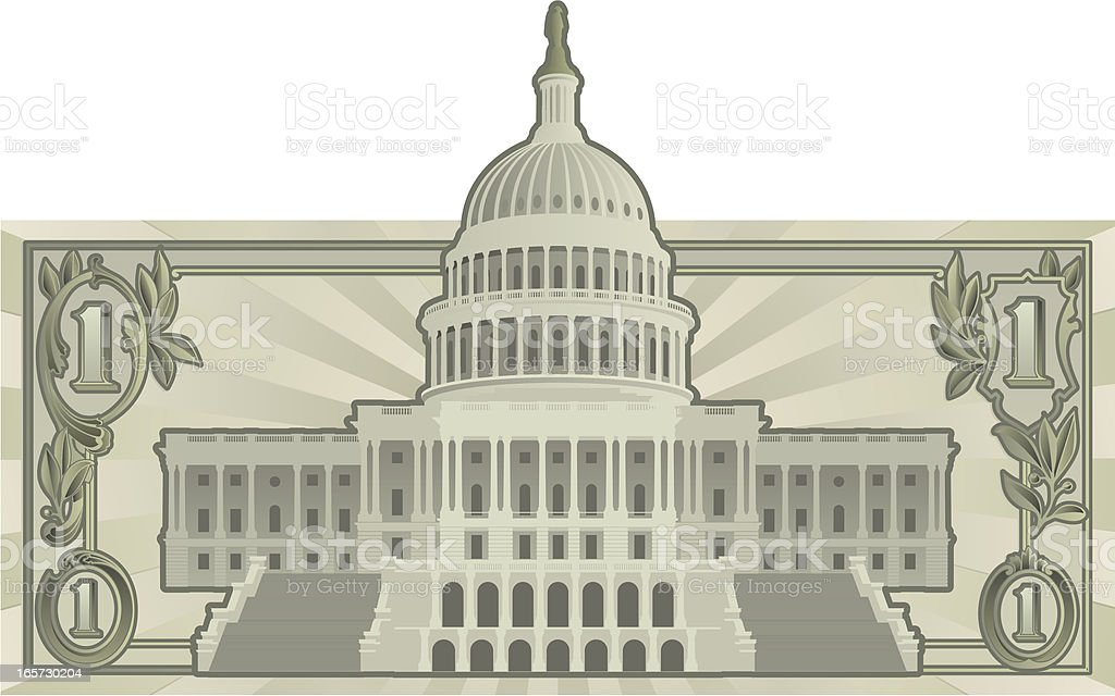 US Budget royalty-free stock vector art