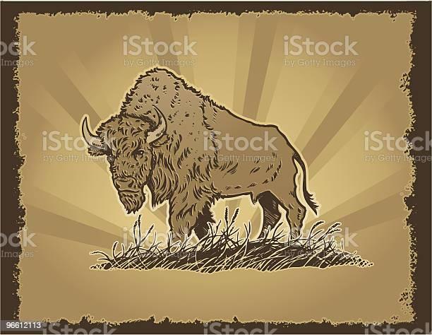 Buffalo Grunge-vektorgrafik och fler bilder på Akvarellmålning