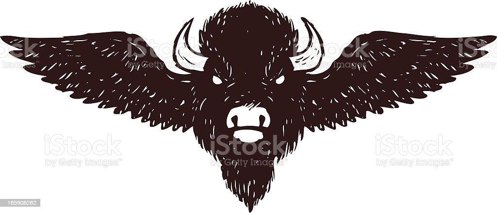 buffalo wings vector art illustration