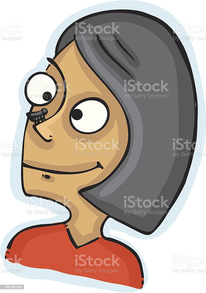 Bug on nose royalty-free stock vector art
