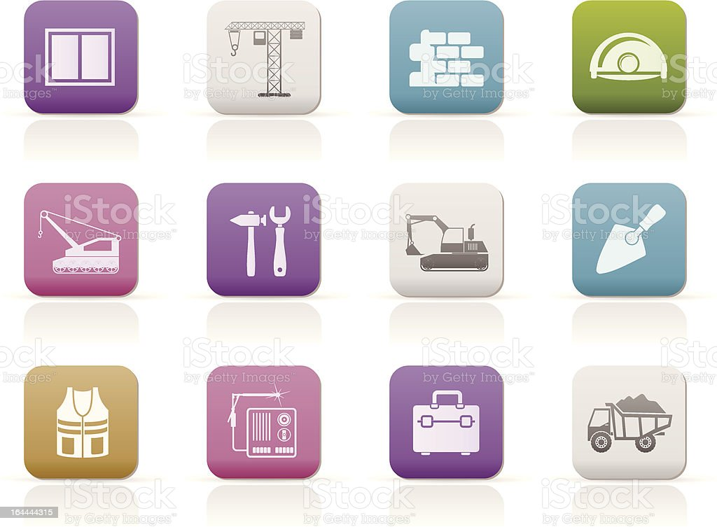 building and construction icons royalty-free building and construction icons stock vector art & more images of bag