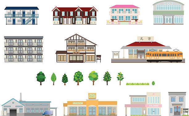 bildbanksillustrationer, clip art samt tecknat material och ikoner med building / business - förskolebyggnad