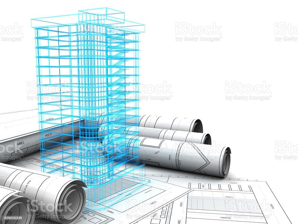 building design vector art illustration