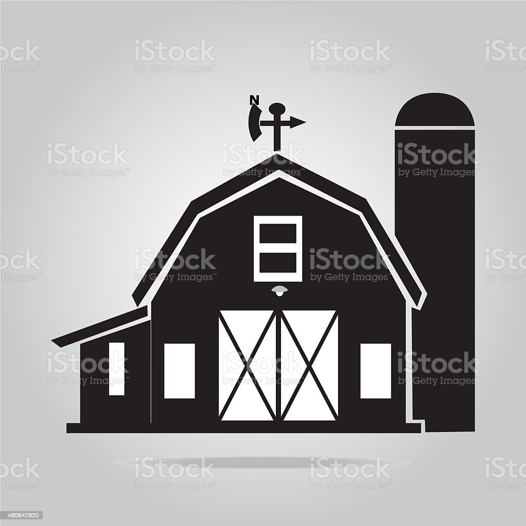 Building icon, barn vector illustration vector art illustration