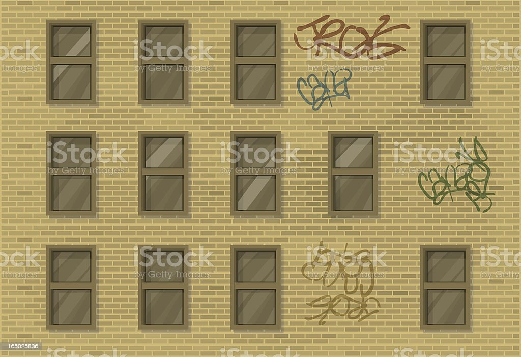 Building Side vector art illustration