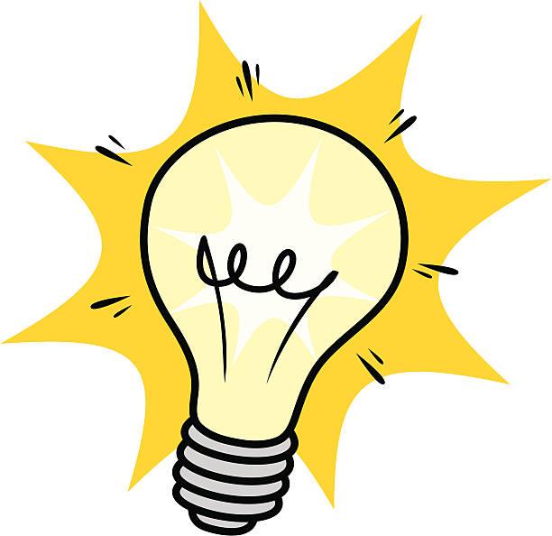 bulb flash vector art illustration