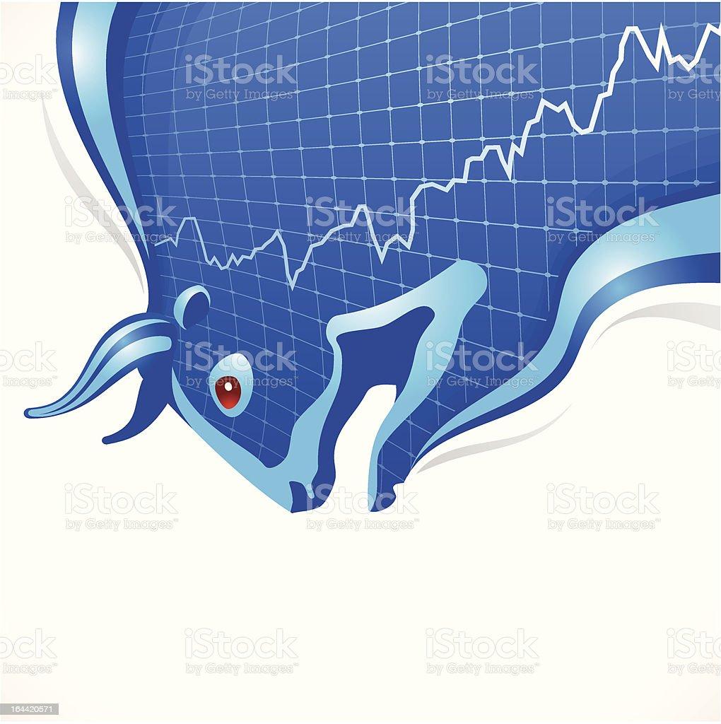 Bull frame. Business and finance symbol vector art illustration