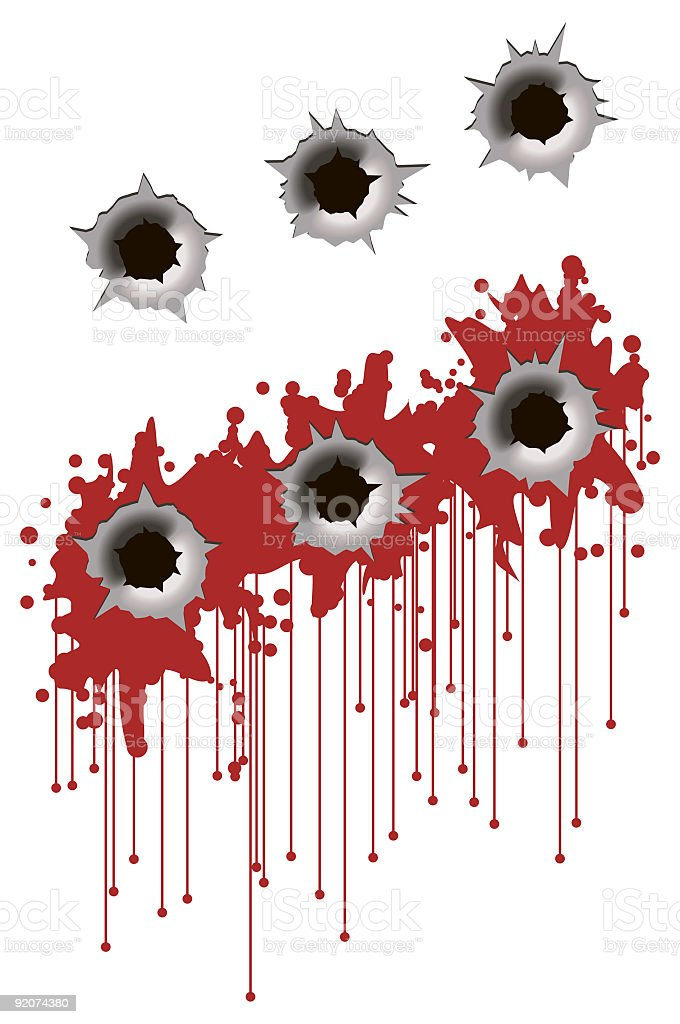 Bullet Holes royalty-free bullet holes stock vector art & more images of color image