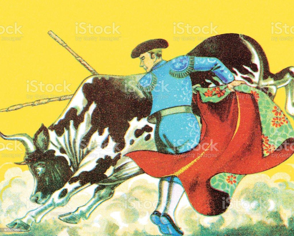 Bullfight royalty-free stock vector art