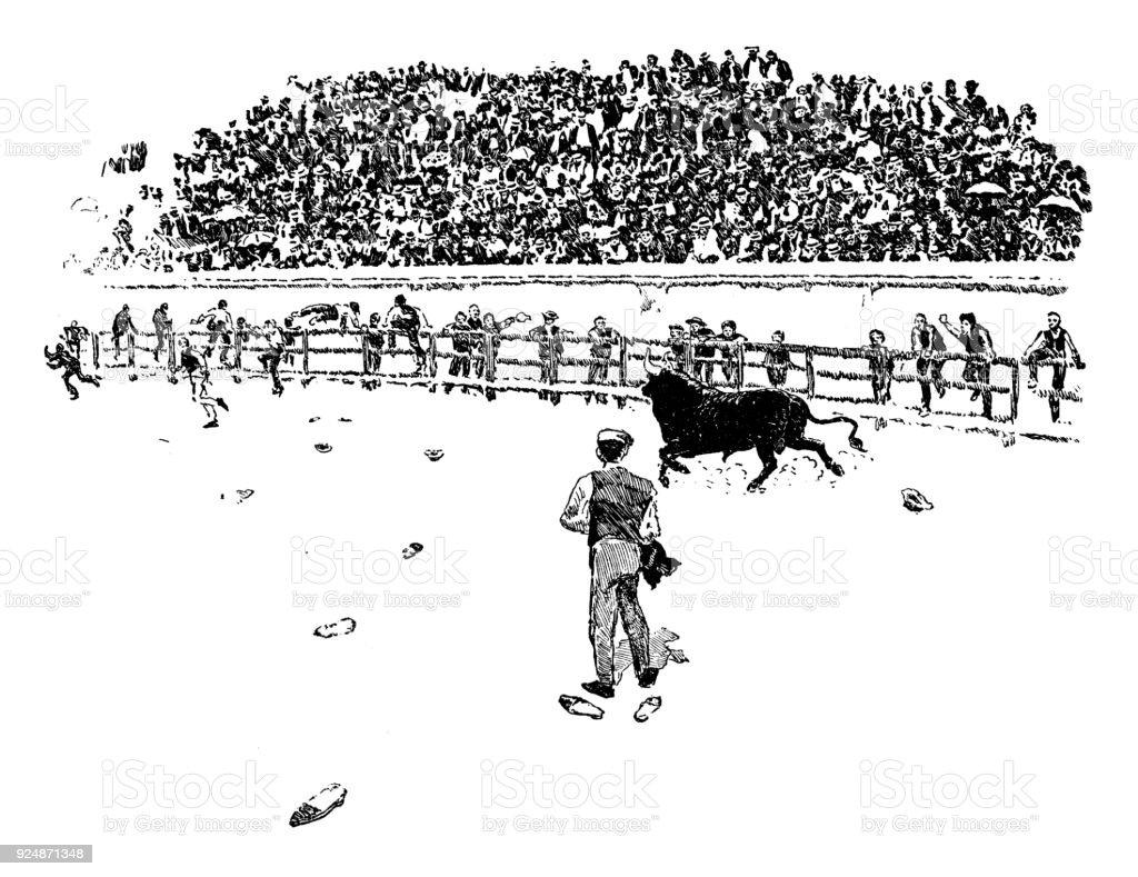 Resultado de imagen de plaza de toros ilustracion