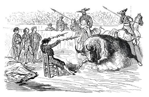 """Bullfighter """" El Gordito """" bullfighting Spain 1862"""