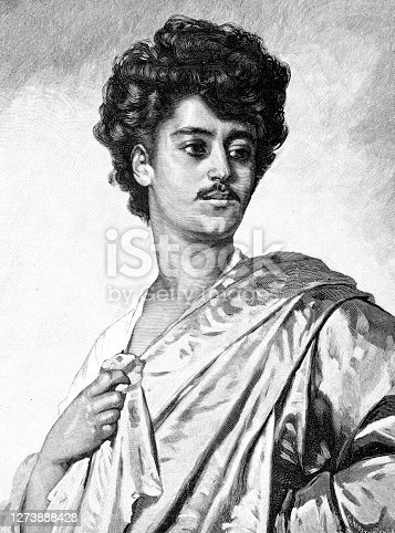 Bullfighter torero portrait Spain Original edition from my own archives Source : Gartenlaube 1891 now in public domain after painting N. Sichel