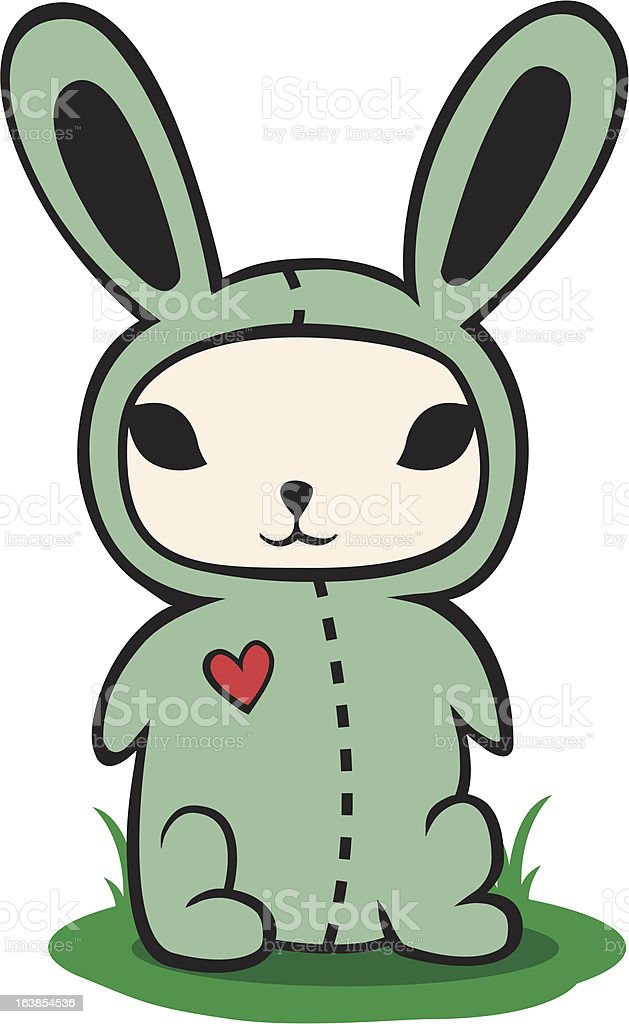 Bunny in a costume royalty-free stock vector art