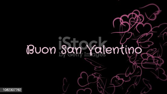 istock Buon San Valentino, Happy Valentine's day in italian language, greeting card 1082307762