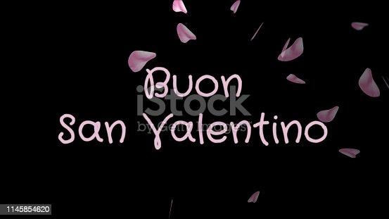 istock Buon San Valentino, Happy Valentine's day in italian language, greeting card 1145854620