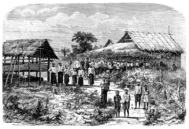 burma chapel - burma home do stock illustrations