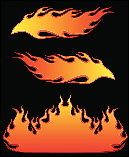 burning hot vector art illustration