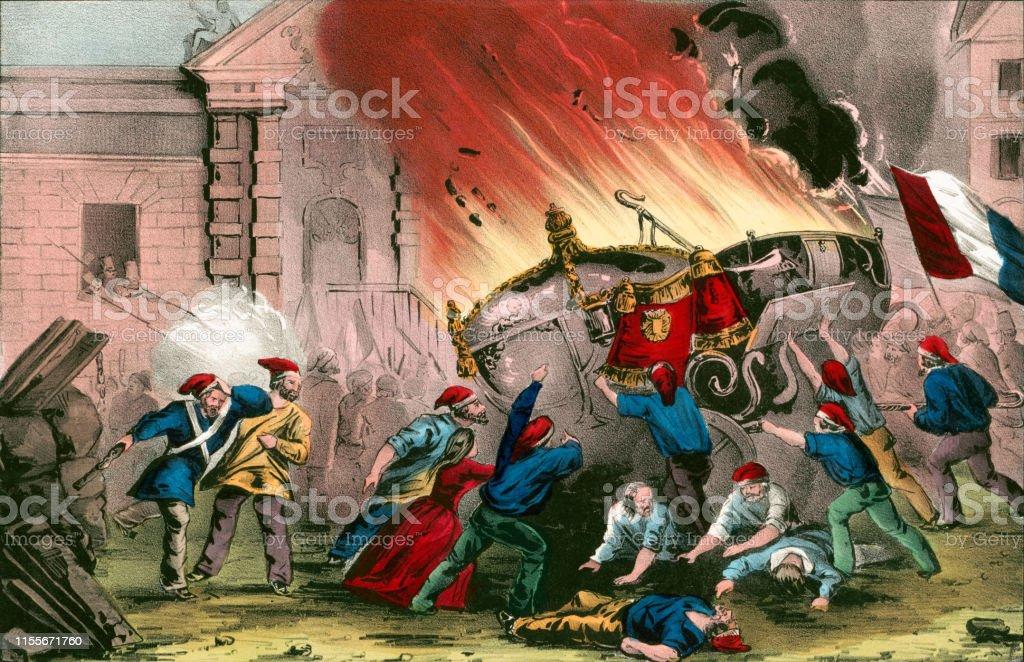 1848年のフランス革命の間にシャ...
