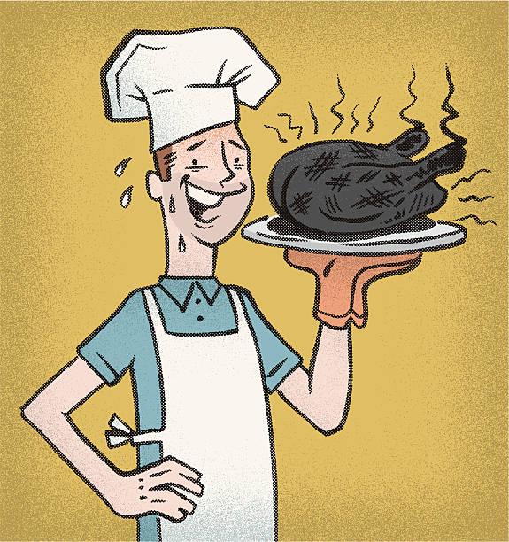 ilustrações de stock, clip art, desenhos animados e ícones de queimado turquia - burned cooking