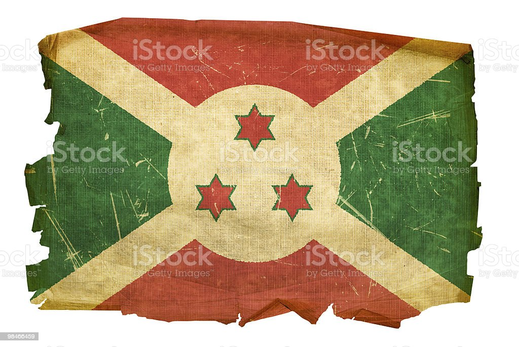 Burundi Flag old, isolated on white background. royalty-free burundi flag old isolated on white background stock vector art & more images of aging process