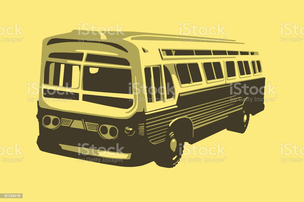 Bus royalty-free stock vector art