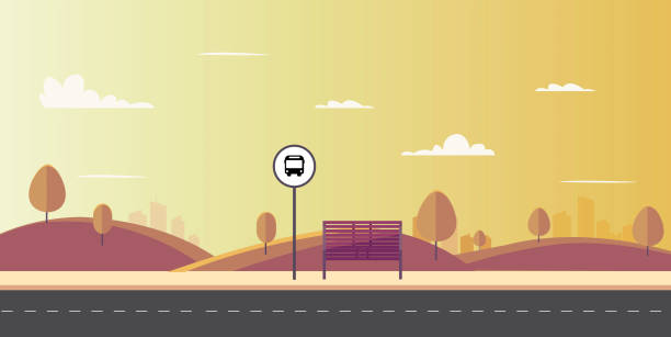 Road Side View Illustrations Royalty Free Vector Graphics